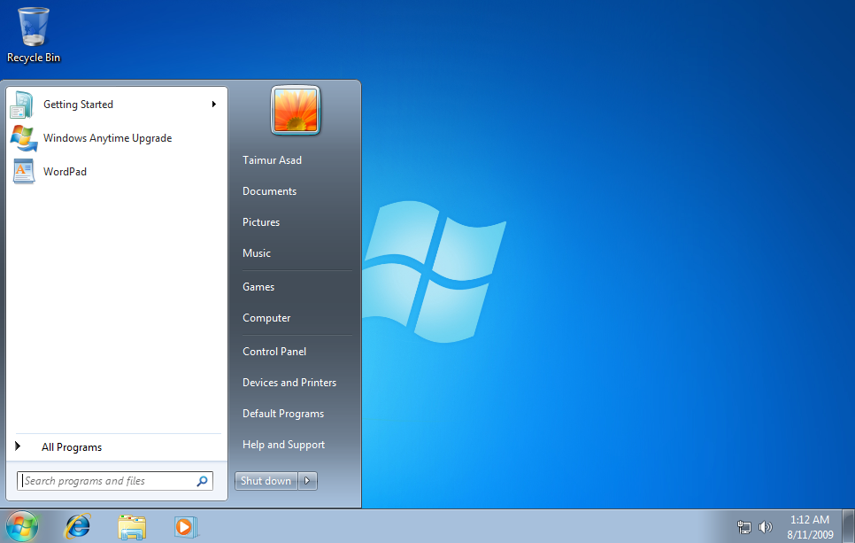 Windows 7 starter arkaplan de i tirme program for Windows 7 bureau